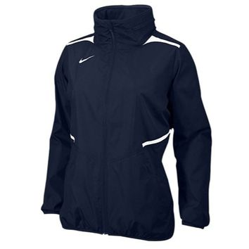 Nike Women's Storm-Fit Full-Zip Team Challenger Jacket with Hideaway Hood