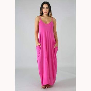 Loose Ends Strapless Lounging Dress