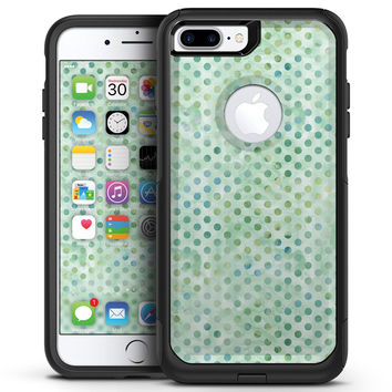Shabby Chic Green Watercolor Polka Dots - iPhone 7 or 7 Plus Commuter Case Skin Kit