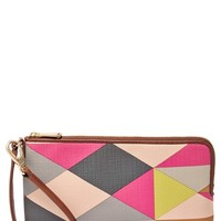 Fossil Large Zip Top Wristlet - Pink