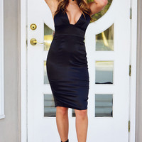 Check Her Out Dress: Black