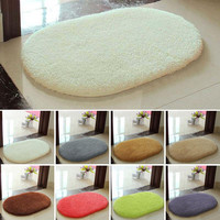 Anti-Skid Fluffy Area Rug Bedroom Home Bath Floor Shower 5Color Mat Home Carpet