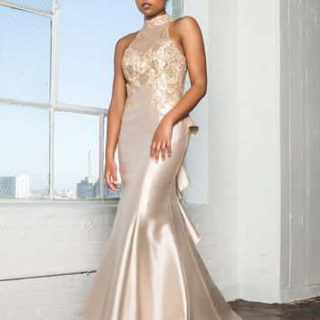 Mermaid Prom dress with ruffles  #gl2280
