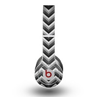 The Sharp Layered Black & Gray Chevron Pattern Skin for the Beats by Dre Original Solo-Solo HD Headphones