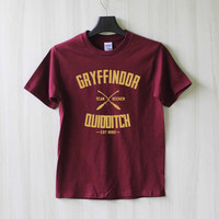 Gryffindor Quidditch Harry Potter Shirt T Shirt Tee Top TShirt – Size XS S M L XL