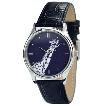 Giraffe Watch B/W Free shipping worldwide