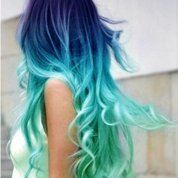 Set of 4 - Blue Hair Chalk - Premium Salon Grade - Mermaid Hair Chalk - Temporary Color Pastels