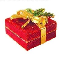 Red Holly Christmas Box Swarovski Crystals Jewelry, Trinket or Pill Box Limited Edition Collectible