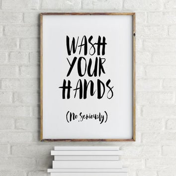 Best bathroom signs for home products on wanelo for Bathroom wall decor quotes
