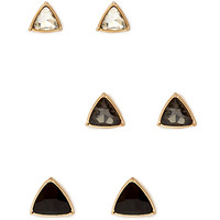FOREVER 21 Graduated Geo Stud Set Grey/Gold One