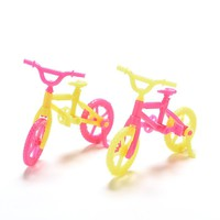 2 Pcs Bicycles Bikes Mini Toy for Barbie Accessories Girls Birthday Gifts Doll Accessories Fits for 10cm Dolls