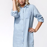 Evil Twin Drive Around Shirtdress - Womens Dress - Blue