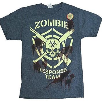 Halloween Zombie Response Team Gray Graphic T-Shirt - Large