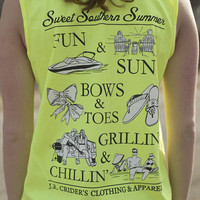 J.R. Crider's Clothing & Apparel — The Southern Summer Tank Top