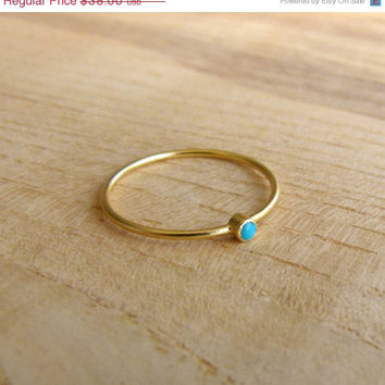 SALE Thin Gold Ring - Delicate Gold Rings - Gemstone Ring