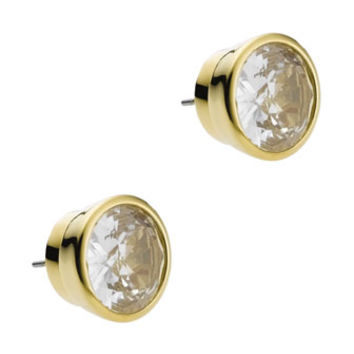 Crystal Stud Earrings - Michael Kors - Golden (ONE SIZE)