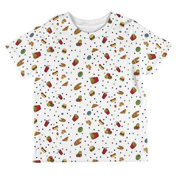 CREYON Junk Food Pattern All Over Toddler T Shirt