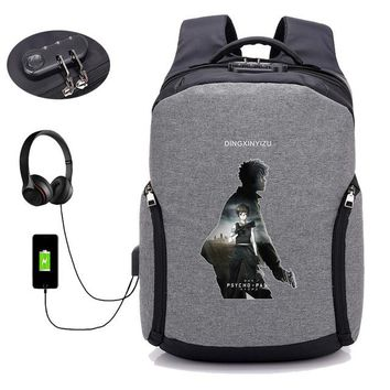 Anime Backpack School kawaii cute psycho-pass backpack USB Charge Anti Theft Travel Backpack School Bag boy girl student book packsack 12 style AT_60_4