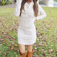 Santa Baby Sweater Dress: Ivory | Hope's