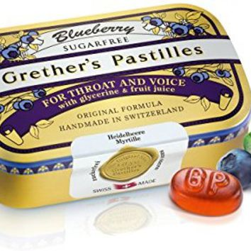 GRETHER'S PASTILLES BLUEBERRY SUGAR FREE 110G/3.75OZ