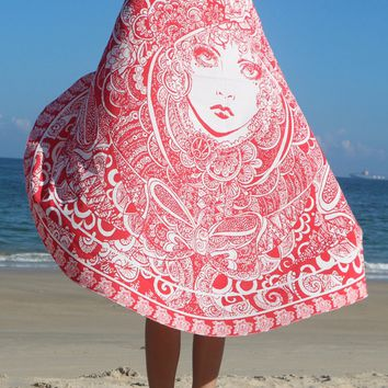 Casual Stylish Round Beach Shawl