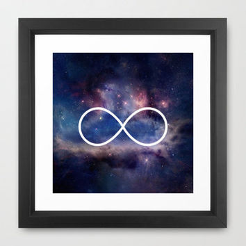 Infinity Symbol Stars Galaxy Space Framed Art Print by Rex Lambo | Society6