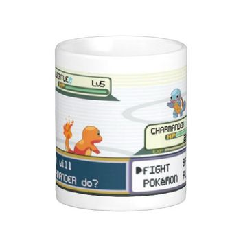 NEW Pokemon Battle Charmander v Squirtle Coffee Mug 11 oz