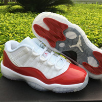 "Air Jordan 11 Low ""Varsity Red"" AJ11 Retro Basketball shoes"