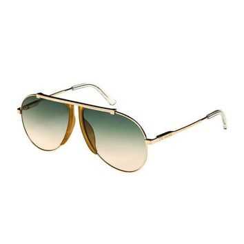 Celine Metal/Acetate Pilot Sunglasses