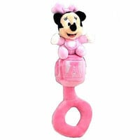 "disney parks 8"" baby minnie mouse rattle plush new with tag"