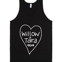 Willow + Tara 4eva-Unisex Black Tank