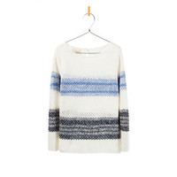 KNITTED SWEATER WITH WIDE BLUE STRIPES - Cardigans and sweaters - Girl - Kids | ZARA United States