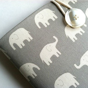 Microsoft Surface Sleeve Case Padded Tablet or Chromebook Cover - Elephants