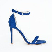Missguided - Clara Cobalt Blue Strappy Heeled Sandals