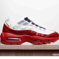 NIKE AIR MAX 95 MEN SHOES CONTRAST SOLES SNEAKERS SPORTS SHOES B-A-XIONGDI-UPING RED
