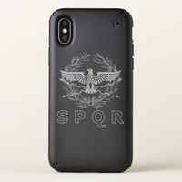 SPQR The Roman Empire Emblem iPhone X Case