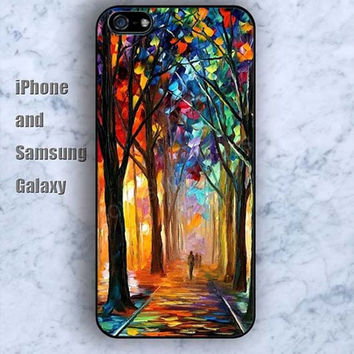 Watercolor forest iPhone 5/5S case Ipod Silicone plastic Phone cover Waterproof