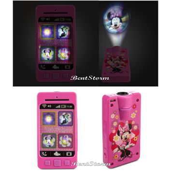 Licensed cool Minne Mouse Talking Light Up Toy Pretend Camera Projector Images Disney Store