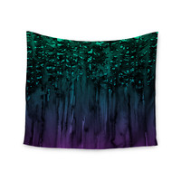 "Ebi Emporium ""Forest Through The Trees 9"" Purple Black Wall Tapestry"