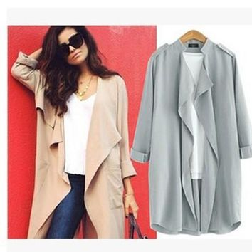 Women's Fashion Stylish Coat Ruffle Jacket [22459482138]