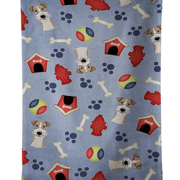 Dog House Collection Wire Haired Fox Terrier Kitchen Towel BB4026KTWL
