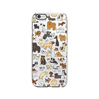 Cute Dog Pattern Transparent Silicone Plastic Phone Case for iphone 7 _ LOKIshop (iphone 7)