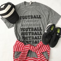 Football Days of the Week Tee