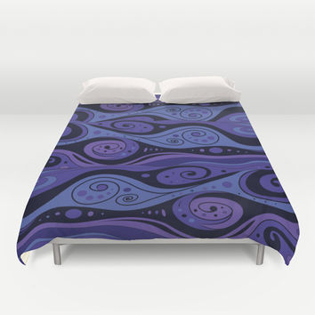 Surreal Waves Duvet Cover by Texnotropio