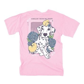 Dalmatian Peeps Tee in Blossom by Lily Grace