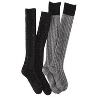 Merona® Women's 2-Pack Knee High Ribbed Boot Socks - Assorted Colors
