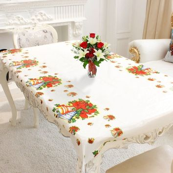 110cm*180cm Christmas Decor Party Table Cloth Home & Kitchen Tablecloth