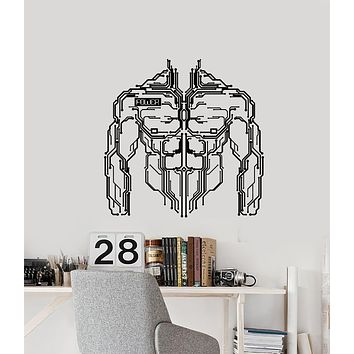 Vinyl Wall Decal Micro Chip Power Muscle Smart Engineer Stickers Mural (g1849)