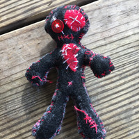 Ooak doll, felt doll, gothic doll, voodoo doll, pin cushion, birthday gift, christmas gift