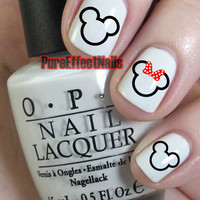 Mickey and Minnie Mouse Nail Decals